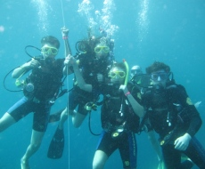 Happy divers in the Marine Park