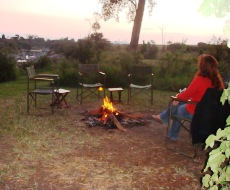 Sundowners by the fire