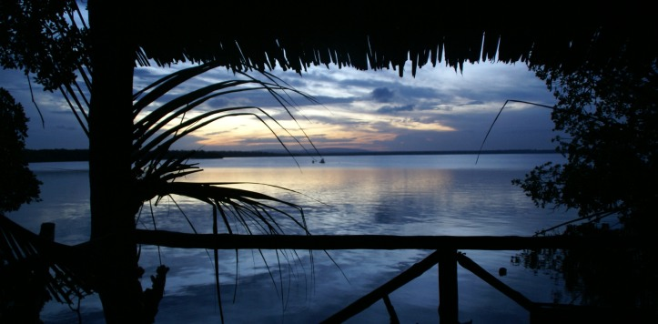 Sunset view from Eco restaurant across Mida Creek
