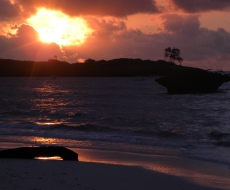 Sunrise over Watamu's Protected Marine Park
