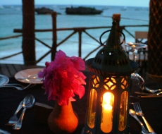 Experience a romantic dinner gazing at the Indian Ocean